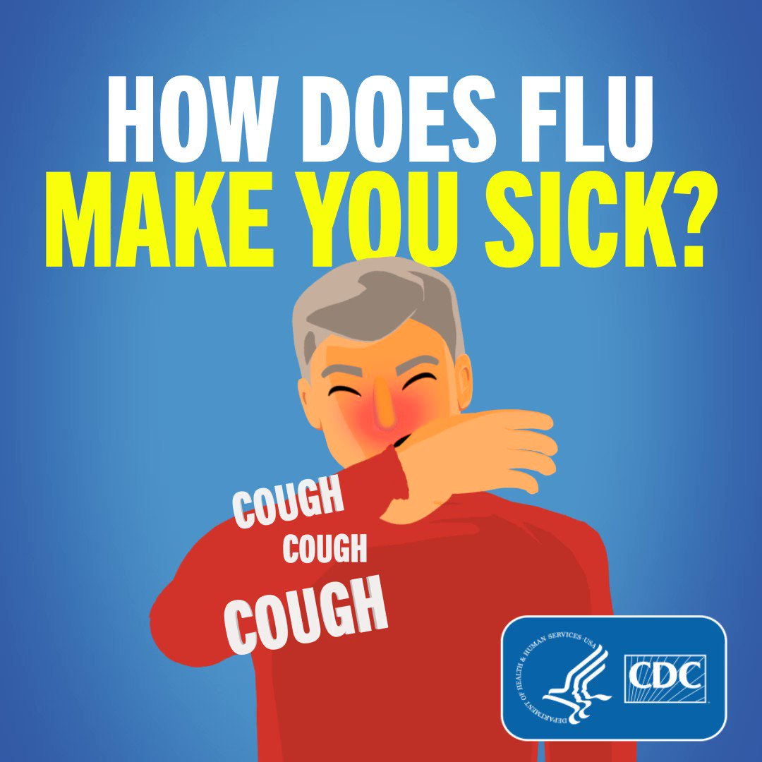 Image for the Tweet beginning: #Flu is a contagious respiratory