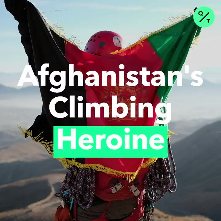 🧗‍♀️Meet Hanifa Yousoufi, the first woman to climb Afganistans highest peak