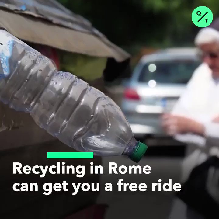 When in Rome, do as the Romans do... and recycle your plastic bottles and aluminum cans for subway commuter credits ♻️