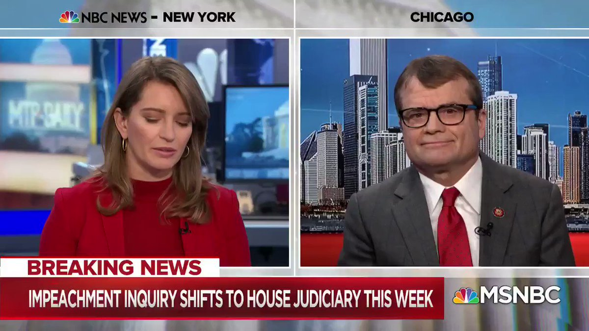 "TODAY: GOP releases impeachment report arguing Trump did ""nothing wrong"" #MTPDaily@RepMikeQuigley: When Republicans ""live in the president's world, they have to live in his alternative world of reality...It's tough when the facts don't matter and when the law doesn't matter."""