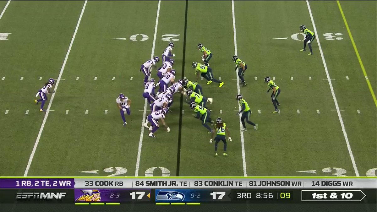 The ball is out and the @Seahawks recover! Bradley McDougald lands on it. @BabyLead #Seahawks 📺: #MINvsSEA on ESPN 📱: NFL app // Yahoo Sports app Watch free on mobile: on.nfl.com/9ZZCAT