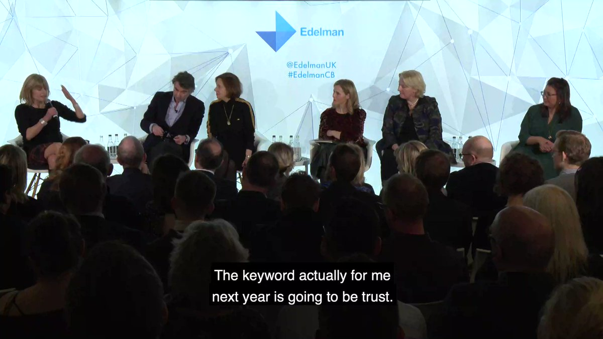 Rachel Johnson, Journalist, Author and Broadcaster, discusses the collapse of trust in politics #EdelmanCB