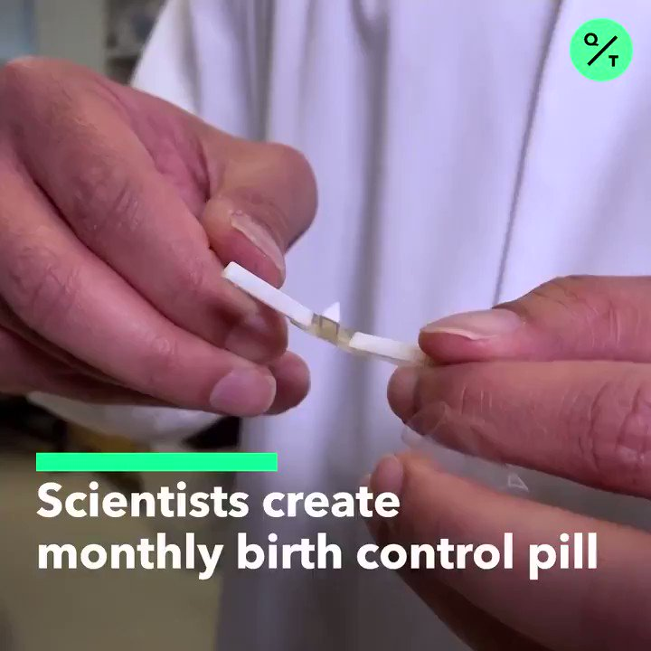 Have you ever missed a day on the pill? 🙋‍♀️ Scientists from @MIT have created a monthly pill with a $13 million investment from the Gates Foundation. More @business: bloom.bg/2rnOWo0