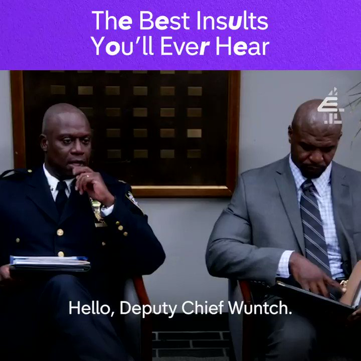 You grackle. @AndreBraugher #B99
