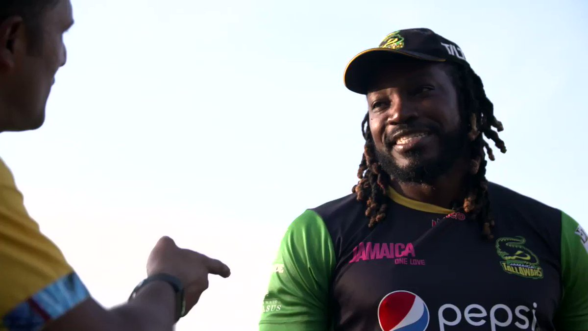 """""""It was fours and I ran a lot between the wickets as well back then!""""How times have changed for @henrygayle 🙌"""