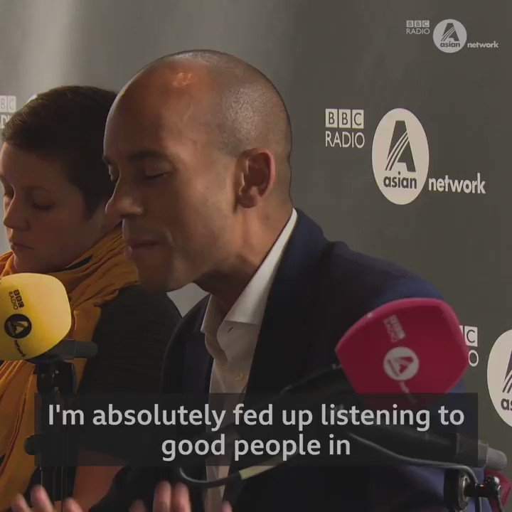 """""""I'm absolutely fed up of listening to good people in the Labour party… and in the Conservative party, defending the indefensible"""". Liberal Democrat candidate @ChukaUmunna accuses rival parties of racism on today's Big Debate election special: bbc.in/38dYDpY"""
