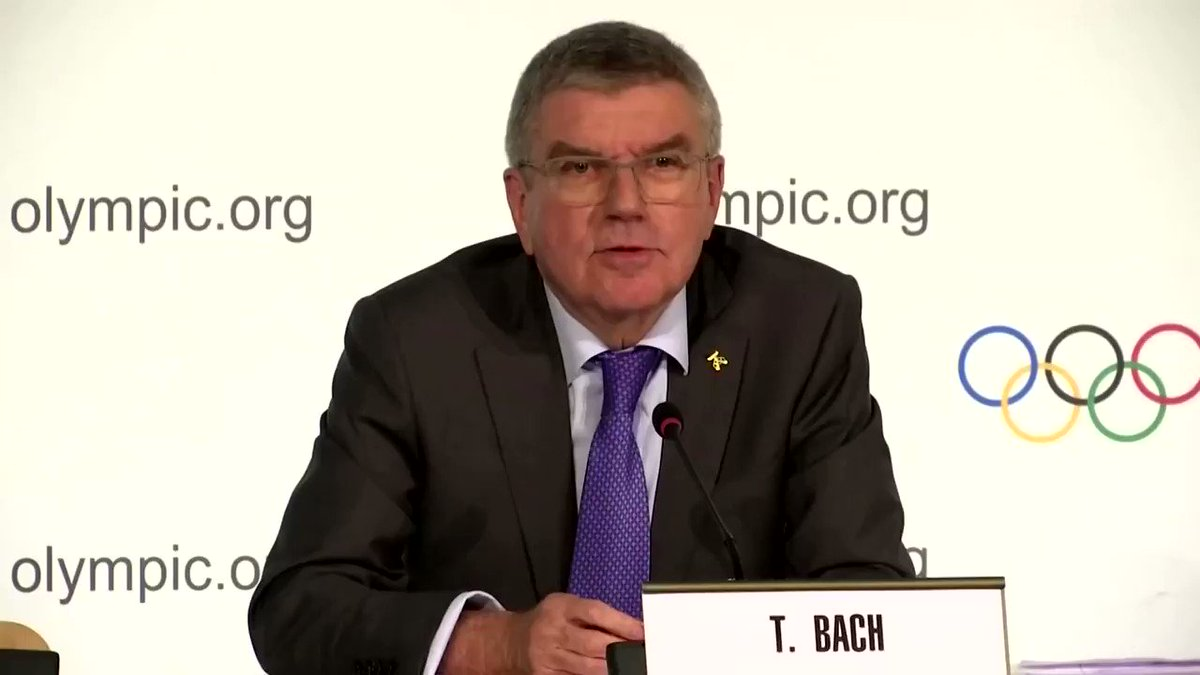 The International Olympic Committee chief Thomas Bach said that it's 'mandatory' for the IOC to accept any sanctions imposed on Russia by the World Anti-Doping Agency