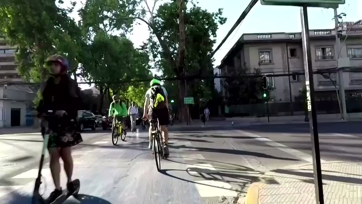 As Santiago's transportation infrastructure took a beating following weeks of protest and violence, many Chileans have found another way around: bikes  https://reut.rs/385GOsR