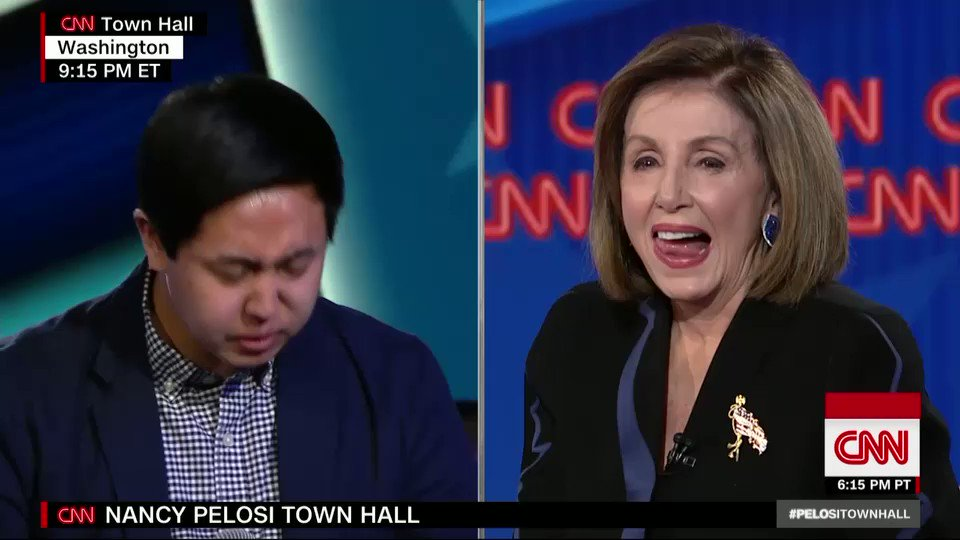 "House Speaker Nancy Pelosi: Former Pres. Bill Clinton was impeached ""for being stupid."" #PelosiTownHall https://cnn.it/36bFl2D"