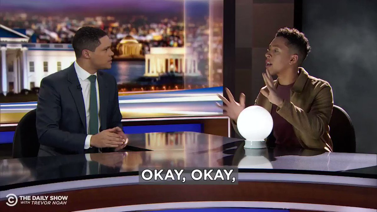 .@Jaboukie whips out his crystal ball to find out what Thomas Jefferson thinks America should do about impeachment.Full piece: https://on.cc.com/2RroqoE