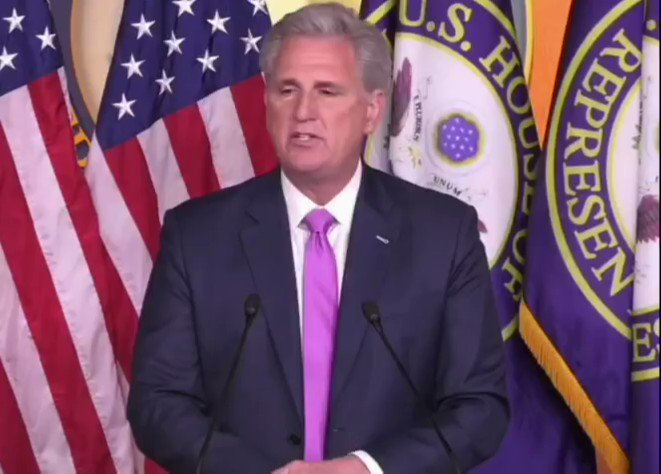 """Rep. Kevin McCarthy: """"Had Speaker Pelosi spend at least 48 hours and waited until the transcript came forth, Americawould not have to go through this nightmare."""""""