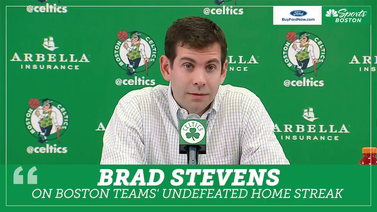 Coach Stevens on the undefeated home from the #NHLBruins, #GoPats & #Celtics (presented by BuyFordNow.com)