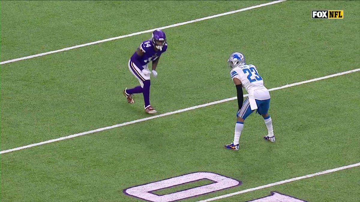 Stefon Diggs and Darius Slay...🤭🤭🤭  #Vikings #Lions #NFL
