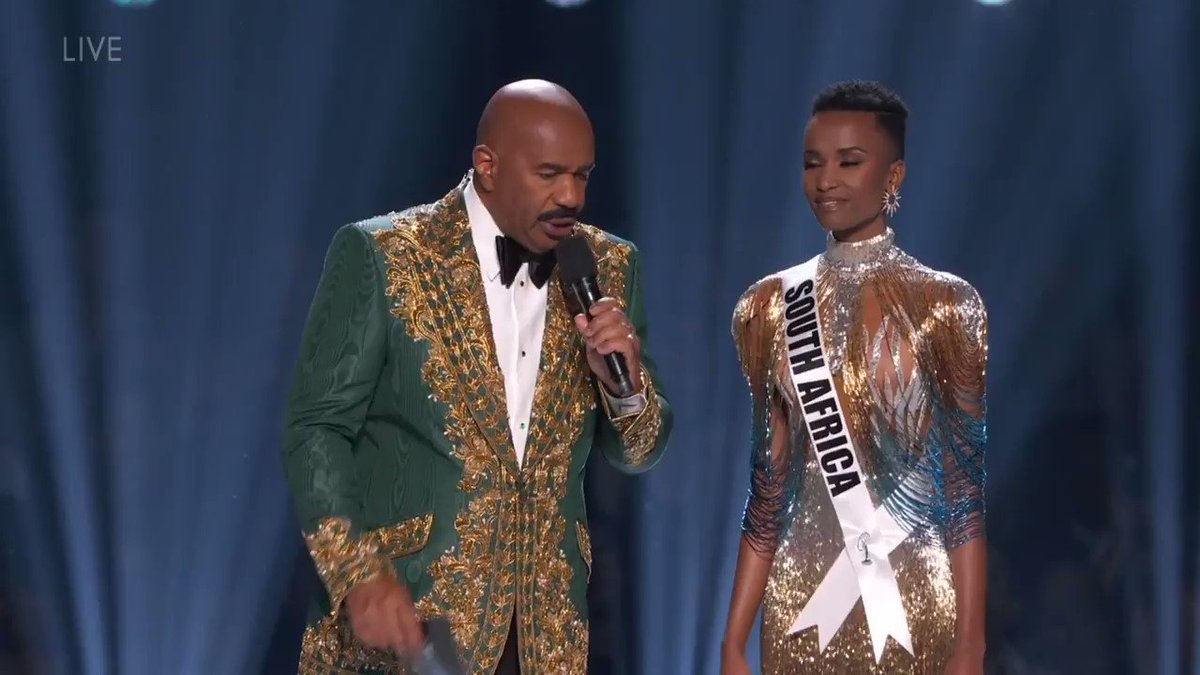 MS SOUTH AFRICA's POWERFUL ANSWER! UGH WE STAN 👏🏻 Congratulations!!❤#MissUniverse2019
