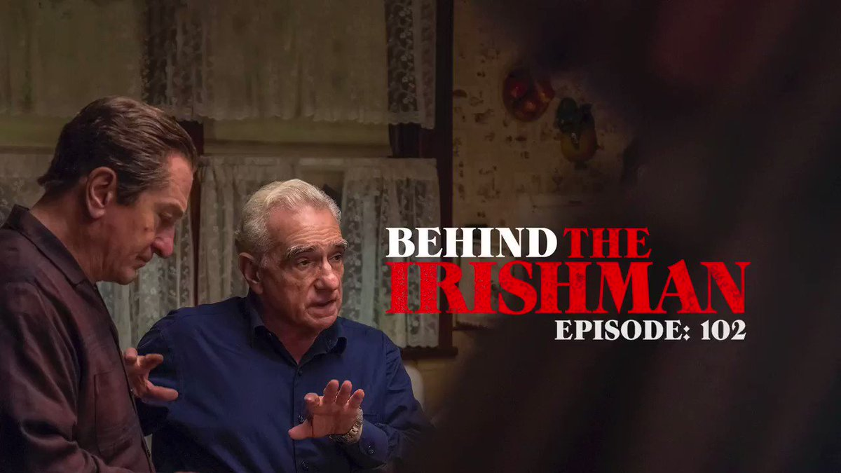 "THE IRISHMAN cast and crew discuss how Scorsese brought Frank Sheeran's story to the screen in the latest episode of ""Behind THE IRISHMAN,' hosted by @SebastianComedy:"