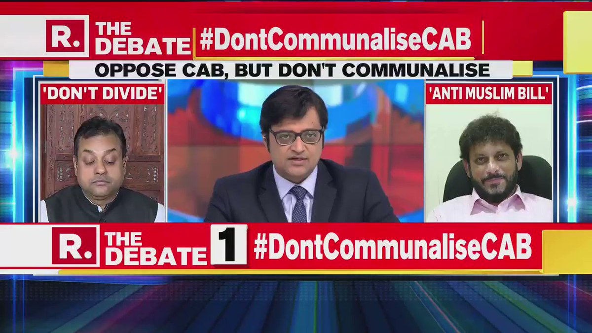 #DontCommunaliseCAB | Is it not true that the same people who say Modis India isnt safe for minorities now want people from that community from Pakistan and Afghanistan to come to India?: Dr Sambit Patra, National Spokesperson, BJP