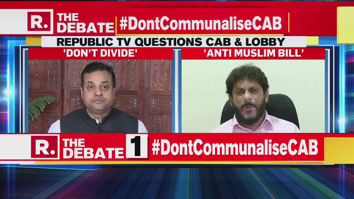 #DontCommunaliseCAB | What is Imran Khan to you? What is Bajwa to you?: Dr Sambia Patra, BJP, to Waris Pathan, Leader AIMIM & Advocate