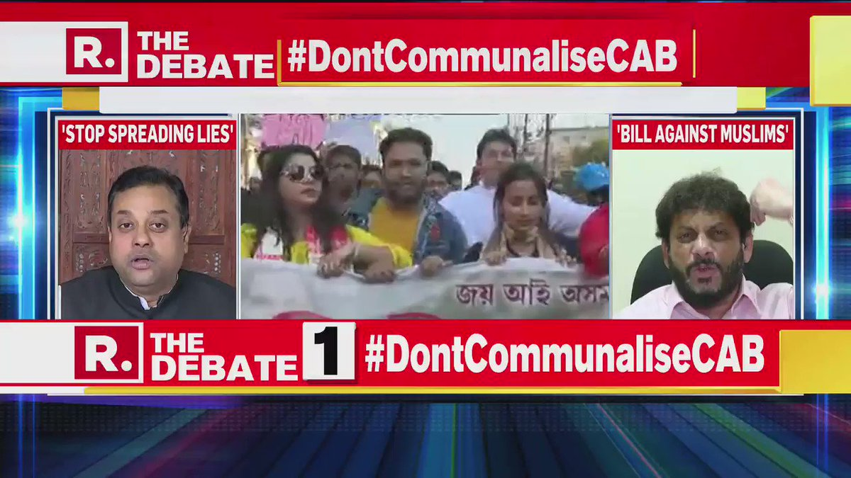 #DontCommunaliseCAB | Imran Khan is nothing to me. I am protecting the Indian Constitution: @warispathan Leader AIMIM & Advocate, to Dr Sambit Patra, National Spokesperson, BJP