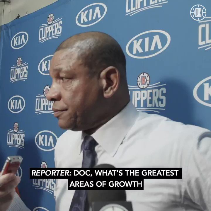 🎤 @DocRivers on the team's ball movement and defensive growth after last night's win.