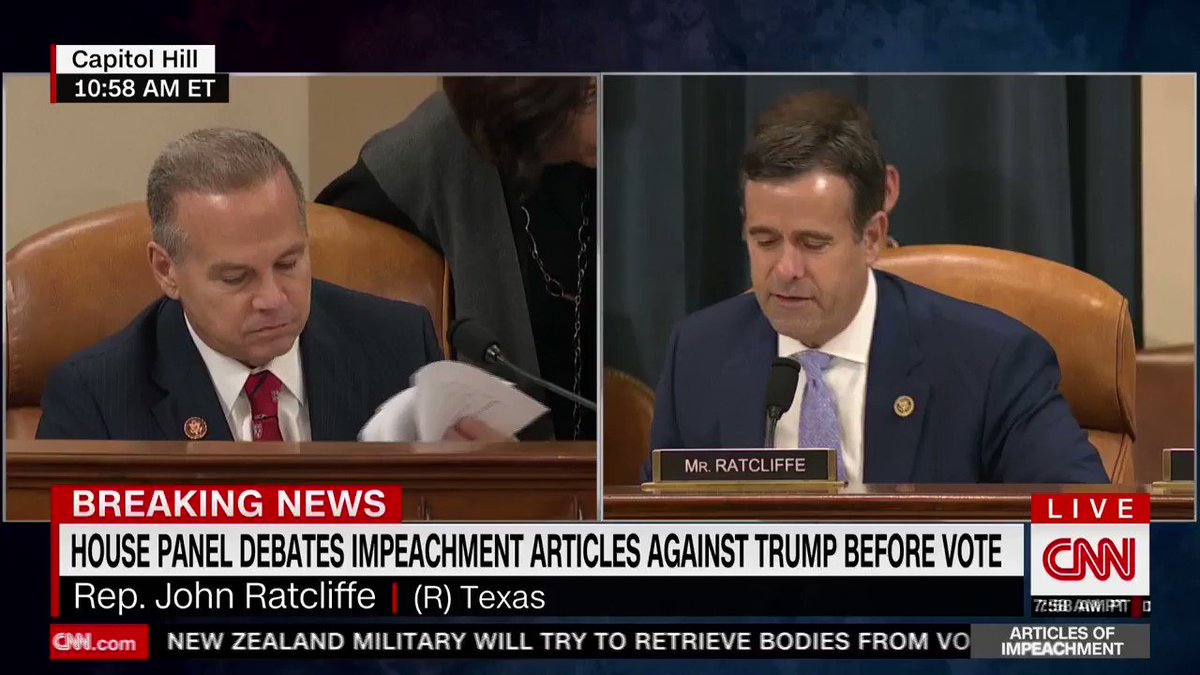 """.@RepRatcliffe: Democrats have built this fake-impeachment scheme around an alleged demand. Nowhere in that transcript does the president make a """"demand."""" The first time we heard the word """"demand"""" was from the whistleblower."""