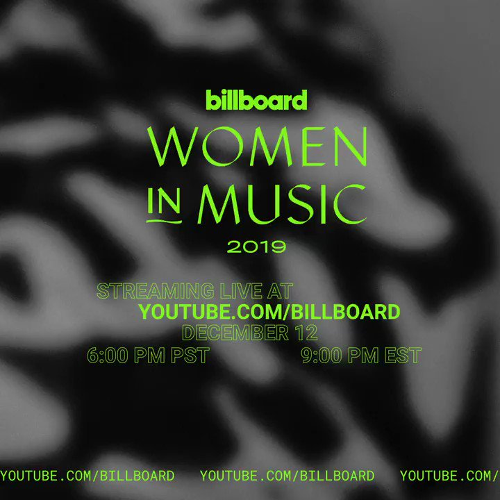 🔴 [LIVE]: Celebrate the powerful women who have moved us this year 🎶 Tune into @Billboard Women In Music 2019 NOW, hosted by @HayleyKiyoko #BBWomenInMusic →