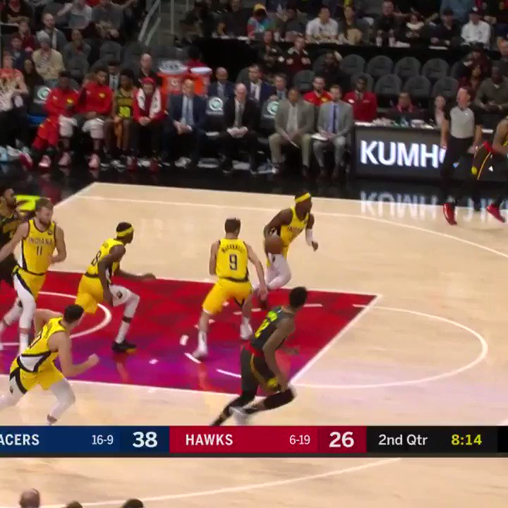 The Indiana Pacers are the definition of team basketball, 7 players with 10+ pts each to beat the Hawks! #IndianaStyle 110-100 #TrueToAtlanta   Brogdon: 19p/8r/12a  Sabonis: 12p/14r  Trae Young: 23p/7r/8a  #NBA #NBATwitter