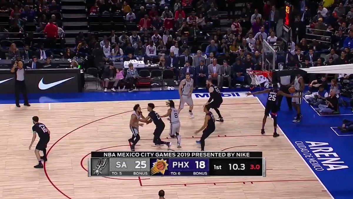 🎞🍿 Was ging bei @spurs gegen @Suns im Primetime Game?  Das hier 👇🏽  #GoSpursGo x #RisePHX   #NBASaturdays