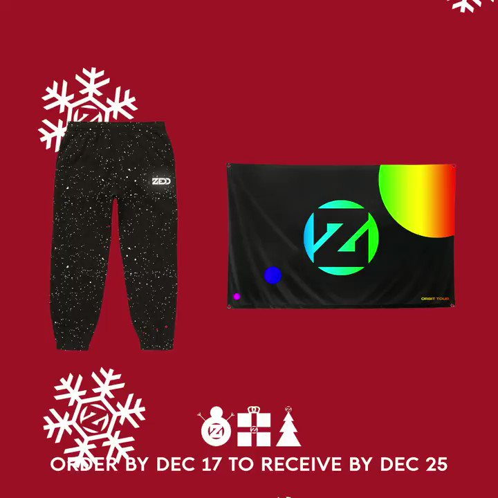 🚨12/17 is the last day to receive by 🎅🏻 in the US smarturl.it/ZeddMerch
