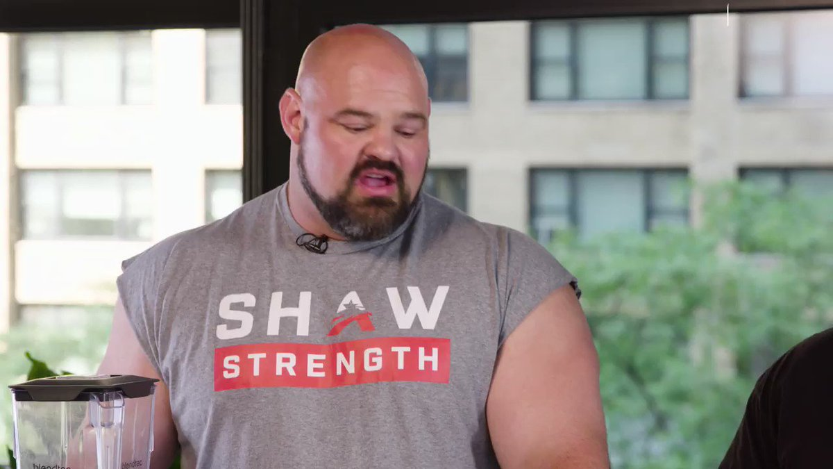 Image for the Tweet beginning: Strongmen Brian Shaw and Eddie