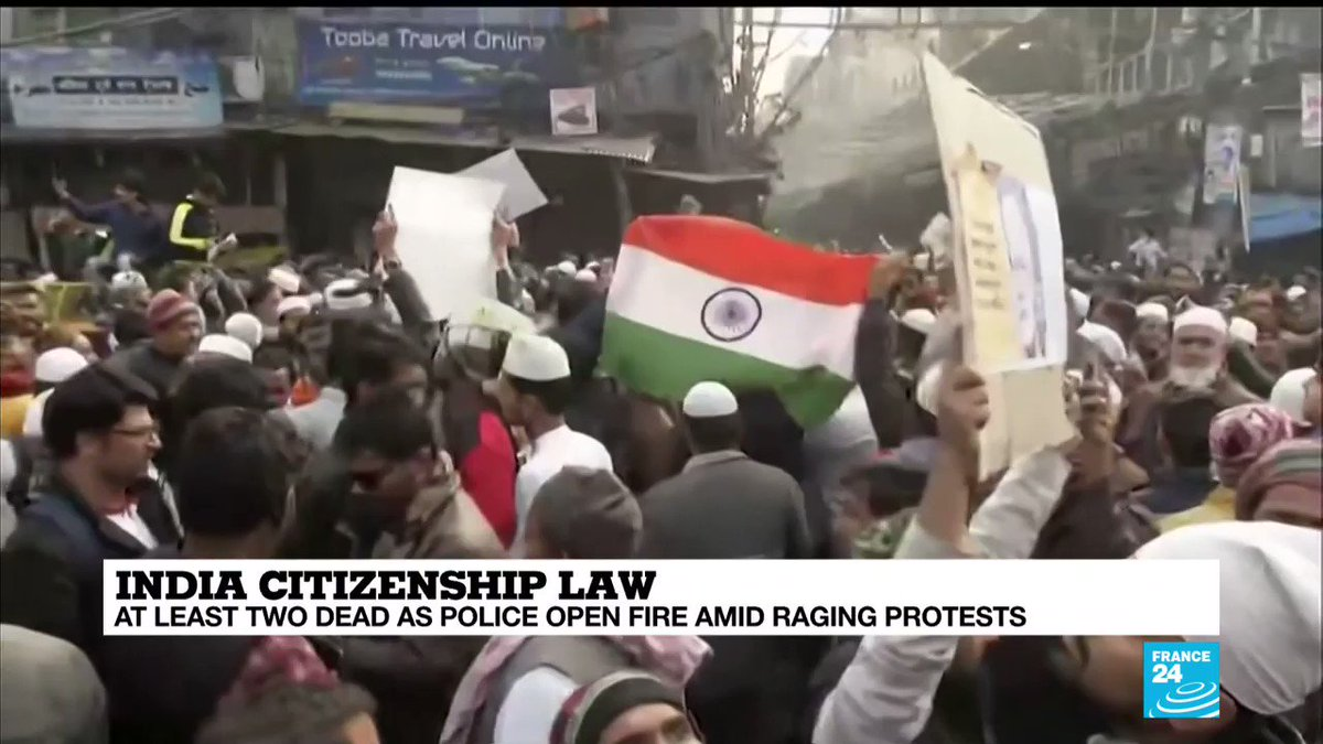 🇮🇳 Police banned public gatherings in parts of #NewDelhi and other cities for a third day Friday and cut internet services to try to stop growing protests against the #citizenshiplaw.The #CAA_NRC_Protests in #India have already left at least eight dead