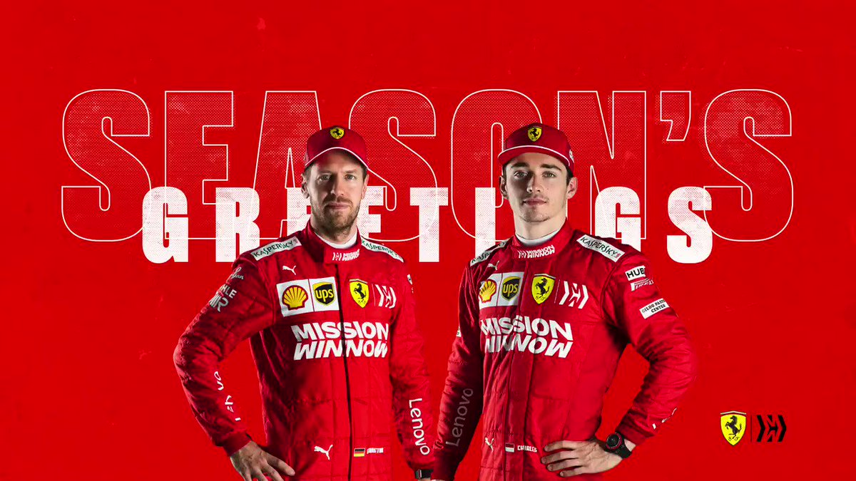 Today is a day to celebrate with friends and family ❤️  Season's greetings from everyone here at Scuderia Ferrari 🎁  #essereFerrari 🔴