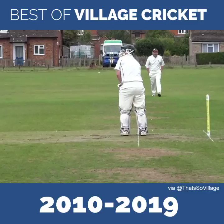 This from @cricketdistrict and @ThatsSoVillage is a magnificent way to start 2020. Crying with laughter 🤣🤣🤣 I love number 44's reaction to the wide 👏🏻👏🏻