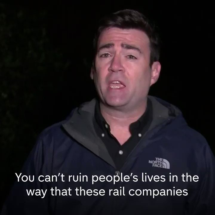 """""""You can't ruin people's lives in the way that these rail companies have done over the last couple of years."""" Greater Manchester Mayor Andy Burnham says that there is """"strong support for rail renationalisation""""."""