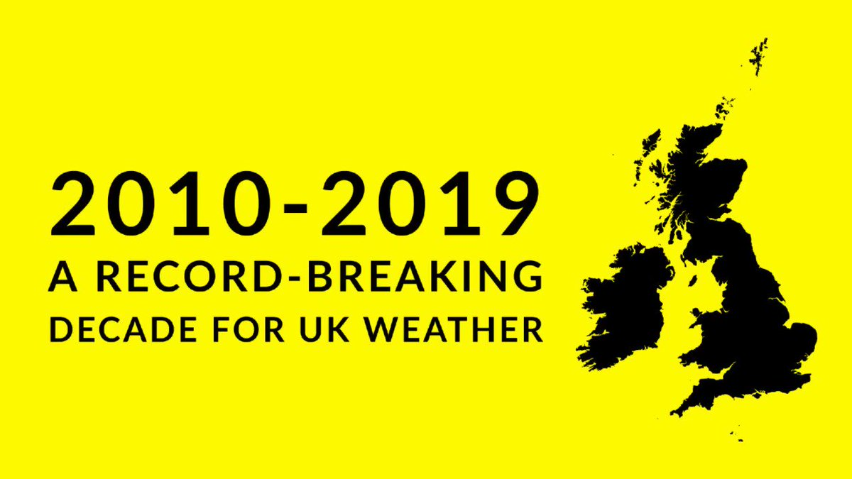 A look back at a record-breaking decade for UK weather, as climate change continues to affect weather here and around the planet.