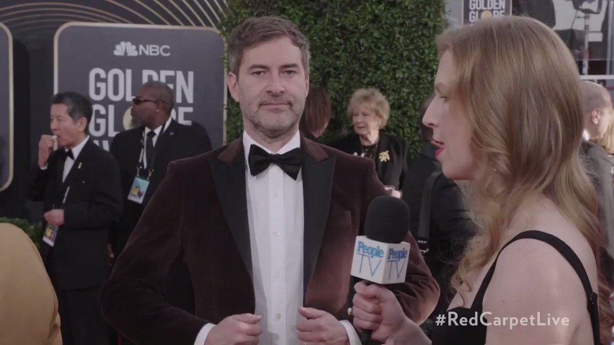 'Bombshell' Star @MarkDuplass Says He Loves Being 'Charlize Theron's Handbag' #GoldenGlobes