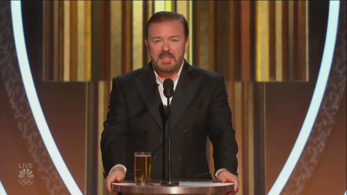 Heres @RickyGervais full opening speech at the #GoldenGlobes Absolutely savage.