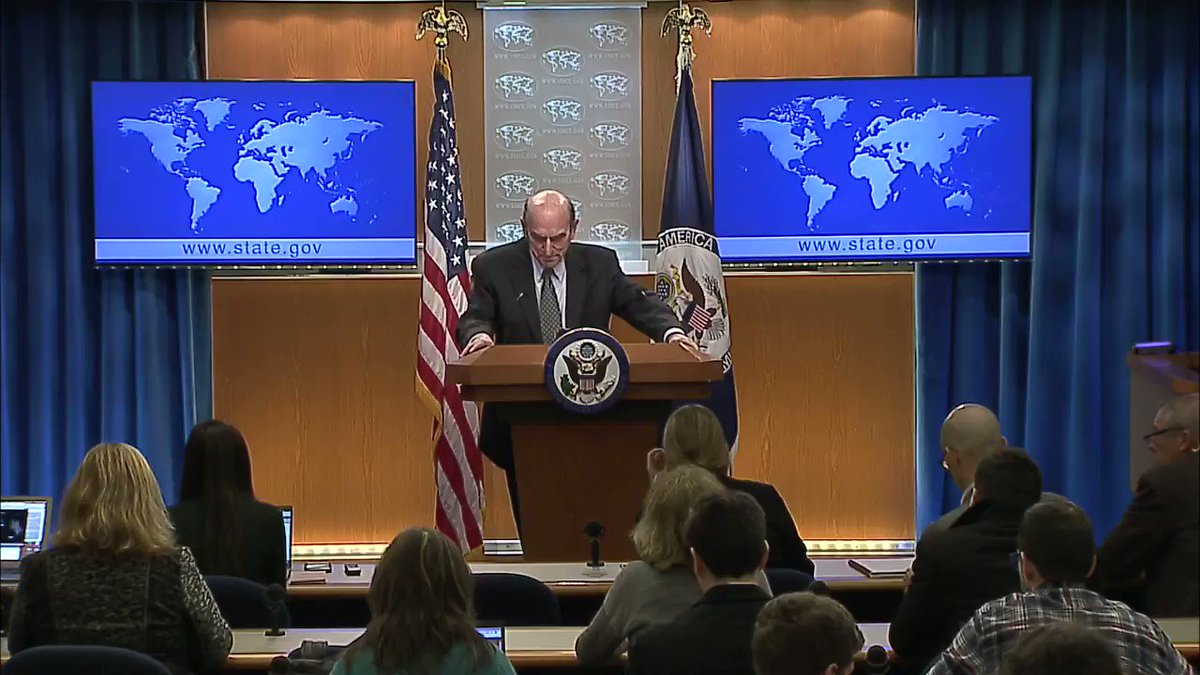 Today, Special Representative for #Venezuela Elliott Abrams addressed the media.