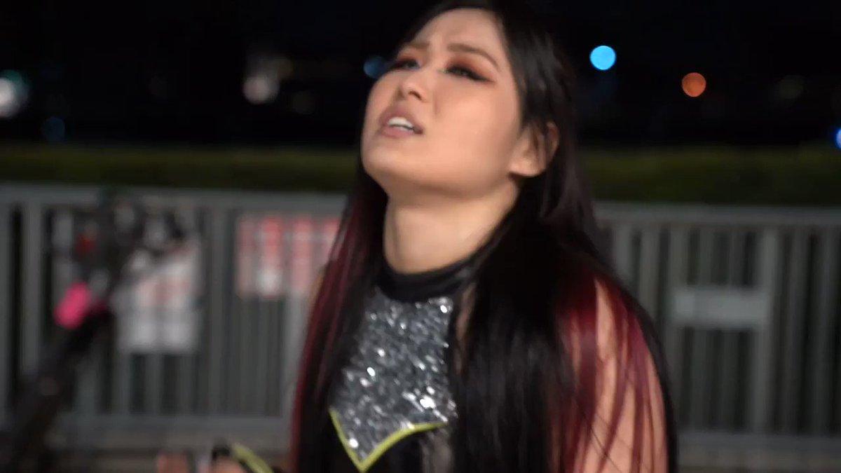 【 #WWENXT 速報】紫雷イオがビアンカ・ブレアに空気が読めないと怒りを爆発👿🔥! @shirai_io #WWE #wwe_jp