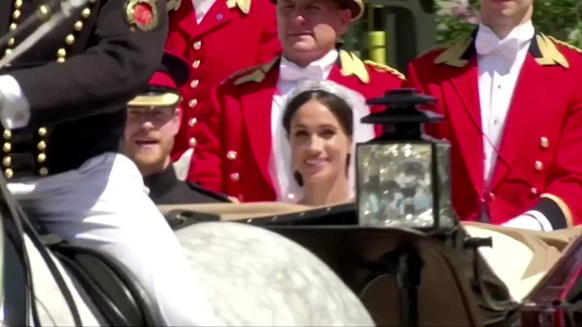 WATCH: After holding an emergency meeting with her grandson, Queen Elizabeth gave her blessing to Prince Harry and Meghan Markle's desire to step back as senior members of the royal family and live part-time in North America https://reut.rs/2RbP4Qp