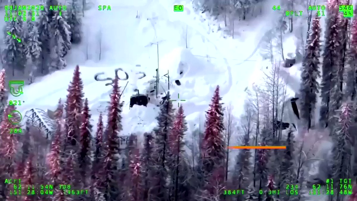 A man spent three weeks in the freezing Alaskan wilderness after his supplies were destroyed in a fire in his cabin. Video released by Alaska State Troopers shows the moment of his rescue