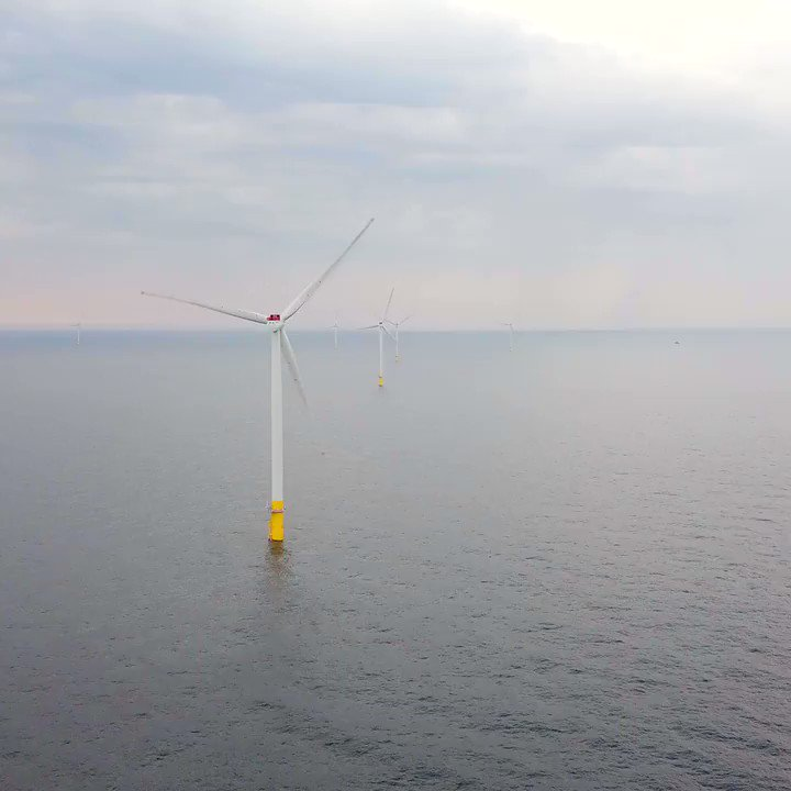 The world's largest offshore wind farm off the east coast of Britain is almost complete. It will produce enough energy to supply 1 million UK homes with clean electricity. https://cnn.it/2G2lZ4M