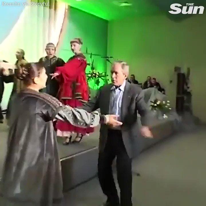 Kremlin release footage of George W Bush dancing with Vladimir Putin to mark Putin's 20th year in powe