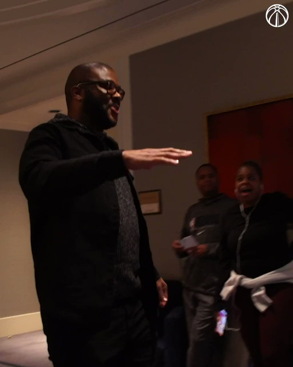 """""""I ain't ever been in a room where I'm the short guy!"""" - Tyler Perry 😂😂😂  #RepTheDistrict 