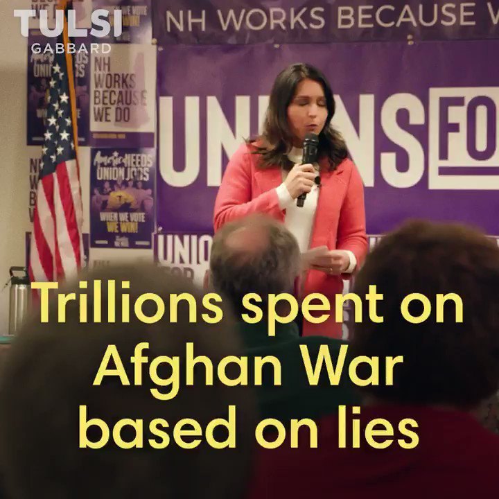 "Politicians who say there isn't enough money to pay for health care or education or infrastructure have been lying to us about ""progress"" in the war in Afghanistan when they knew/know it is unwinnable—lying to justify spending $4 billion a month for 18 years and counting."