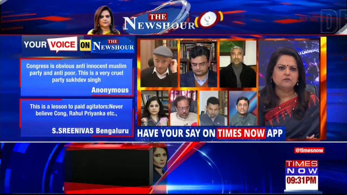 Home Minister Amit Shah has addressed these issues (CAA, NPR, NRC) multiple times: @neelakantha, Activist tells Navika Kumar on @thenewshour. | #ShaheenBaghCracks