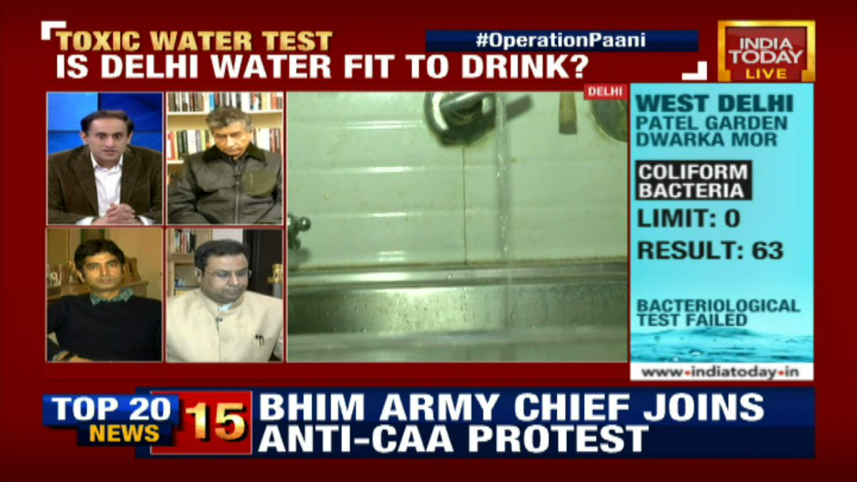 Right to have 'Safe Drinking Water' is one of the basic rights that any human should have access to & therefore, I wish to compliment the report that you have come out with, says @AmanSinhaLaw #OperationPaani #Delhi