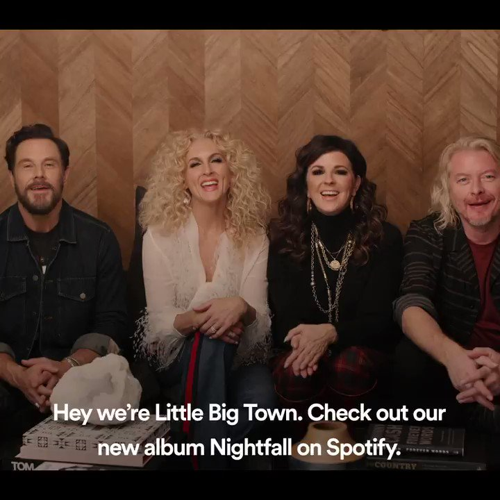 An album that sounds great at any time of day 🌅🌄 Stream #Nightfall from @littlebigtown spoti.fi/nightfall