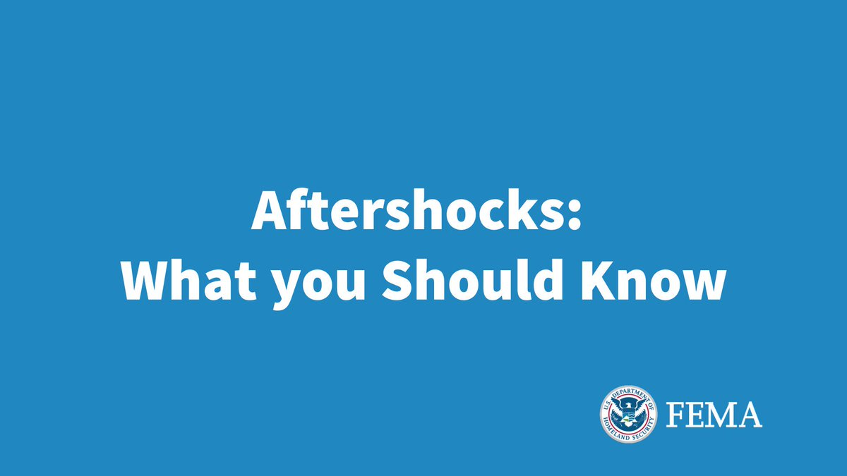 After a large earthquake, aftershocks can occur for long time. Remember: Drop, Cover & Hold On!It's normal to feel stress & anxiety during a long sequence of aftershocks. If you need support, call the disaster @distressline: 1-800-985-5990/ 1-800-846-8517 (TTY)#PuertoRico