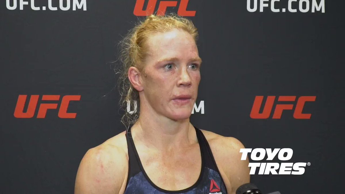 """""""I want something big. I want knockouts. I want stuff like that""""  @HollyHolm wanted to do more damage in the fight, but she was still happy to get the win and cement her place in the division.  #UFC246 live results: https://www.ufc.com/news/ufc-246-live-results-conor-mcgregor-donald-cowboy-cerrone…"""