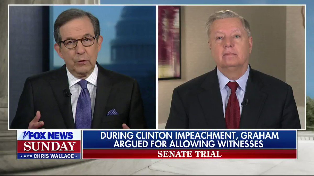 On FOX News Sunday: Senate Judiciary Chair Lindsey Graham indicates he will not defy executive privilege despite a U.S. Supreme Court decision that rejected claims of absolute executive privilege. #FNS #FoxNews